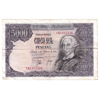Spain Note 1976 5000 Pesetas, EF