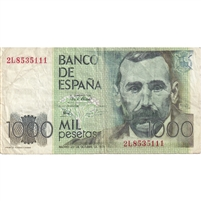 Spain Note 1979 1000 Pesetas, VF