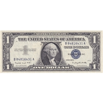 United States Note FR#1620 1957A $1 Silver Certificate, Smith-Dillon, AU