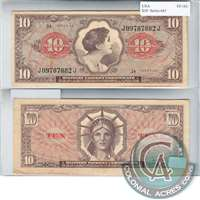 United States Note $10 Military PMT Certificate, Series 641 EF-AU