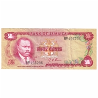 Jamaica Note 1970 50 Cents, EF