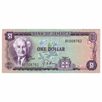 Jamaica Note 1970 1 Dollar, AU