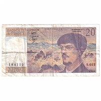France Note 1984 20 Francs, VF-EF (hole)