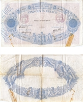 France Note 1938 500 Francs, VF (tape)
