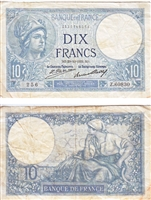France Note 1931 10 Francs, VF