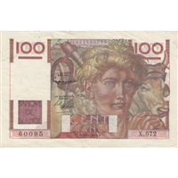 France Note 1953 100 Francs, EF-AU