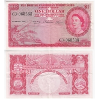 British Caribbean Note 1958 1 Dollar, EF