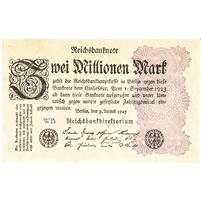 Germany Note 1923 2 Million Mark, UNC