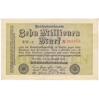 Germany Note 1923 10 Million Mark, AU-UNC
