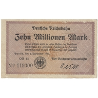 Germany Note 1923 10 Million Mark, S1014 AU