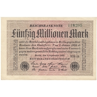 Germany Note 1923 50 Million Mark, EF-AU