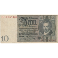 Germany Note 1929 10 Reichsmark, F-VF