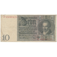 Germany Note 1929 10 Reichsmark without under, F