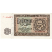 Germany Note 1948 5 Deutsche Mark 7 Digit, UNC