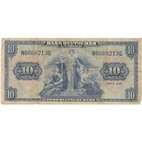 Germany Note 1949 10 Deutsche Mark, F
