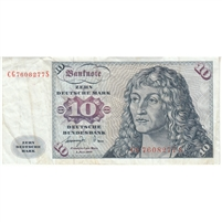 Germany Note 1977 10 Deutsche Mark, VF