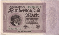 Germany Note 1923 1 Billion Marks, VF (tear)