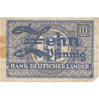Germany Note 1948 10 Pfennig, F (stain)