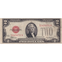 United States Note FR#1505 1928D $2, VF (holes)