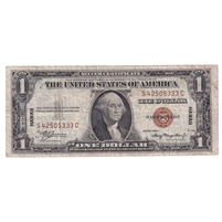 United States Note FR#2300 1935A $1, Hawaii, VF (damaged)
