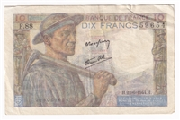 France Note 1944 10 Francs, EF