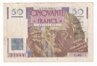 France Note 1946 50 Francs, VF