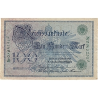 Germany Paper Money 1908 100 Mark, Green AU