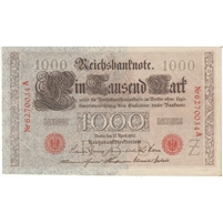 Germany Paper Money 1910 1000 Mark, Red AU