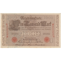Germany Paper Money 1910 1000 Mark, Red UNC