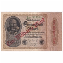 Germany Paper Money 1923 1 Million Mark, VF