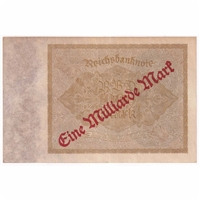 Germany Paper Money 1923 1 Million Mark, AU-UNC