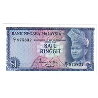Malaysia Note Pick #7 1972-76 1 Ringgit, UNC