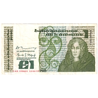 Ireland Note E137 1978-81 1 Pound, VF-EF