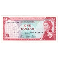 East Caribbean States Note Pick #13f 1965 1 Dollar, Signature 9, VF-EF