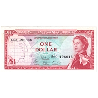 East Caribbean States Note Pick #13f 1965 1 Dollar, Signature 9, UNC