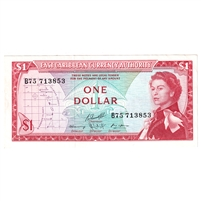 East Caribbean States Note Pick #13f 1965 1 Dollar, Signature 10, EF-AU
