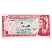 East Caribbean States Note Pick #13f 1965 1 Dollar, Signature 10, Very Fine