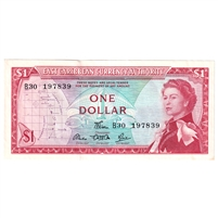 East Caribbean States Note Pick #13d 1965 1 Dollar, Signature 5, UNC