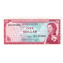 East Caribbean States Note Pick #13a 1965 1 Dollar, Signature 2, AU