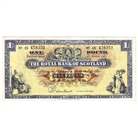 Scotland Note SC804b 1967 1 Pound, VF-EF