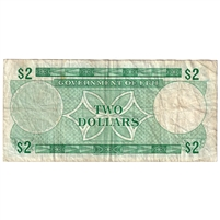 Fiji Note Pick #60a 2 Dollars, Very Fine
