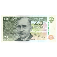 Estonia Note Pick #73a 1991 25 Krooni, UNC