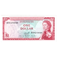 East Caribbean States Note Pick #13f 1965 1 Dollar, AU-UNC