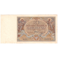 Poland Note Pick #69 1929 10 Zlotych, UNC