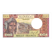 Dijbouti Note Pick #37b 1988 1000 Francs, UNC