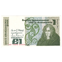 Ireland Note E138 1982-87 1 Pound, EF-AU