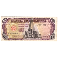Dominican Republic Note Pick #121b 1985 50 Pesos Oro, Very Fine