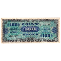 France Note Pick #118a 1944 100 Francs, Very Fine