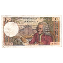 France Note Pick #147d 10 Francs, Very Fine (damaged)