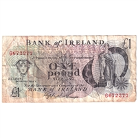 Northern Ireland Note NI.205 1984 1 Pound, Very Fine
